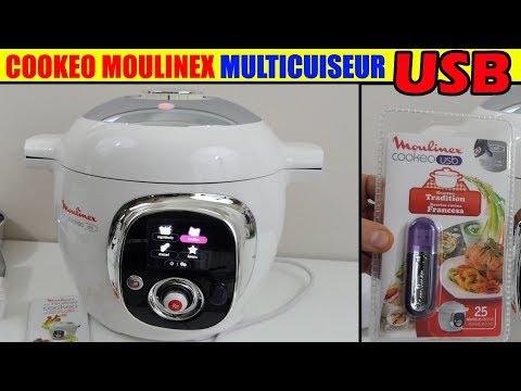 cookeo-usb-moulinex-multicuiseur-mijoteuse-robot-de-cuisine-présentation-unboxing-livre-recette