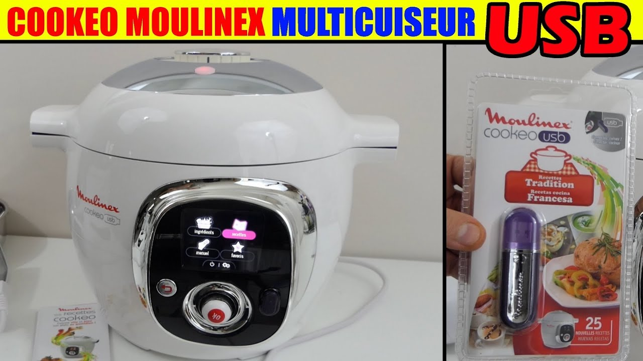 cookeo usb moulinex multicuiseur mijoteuse robot de cuisine pr sentation unboxing livre recette. Black Bedroom Furniture Sets. Home Design Ideas