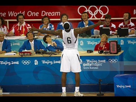 China vs USA 2008 Beijing Olympics Men's Basketball Group Ma
