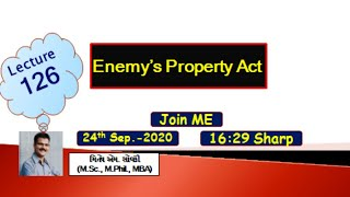 Enemy's Property Act