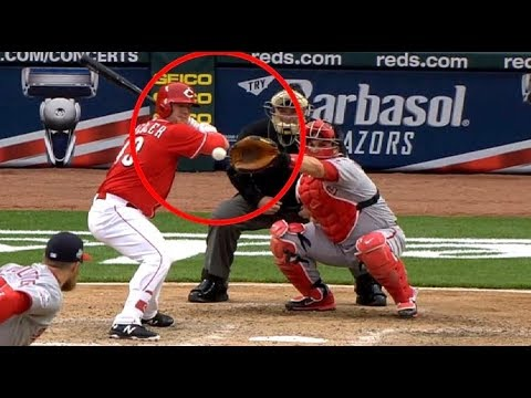 MLB Illegal Hit by Pitch (HD)