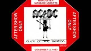 AC/DC [December 2nd 1983] Centrum, Worcester, MA {Live Audio}