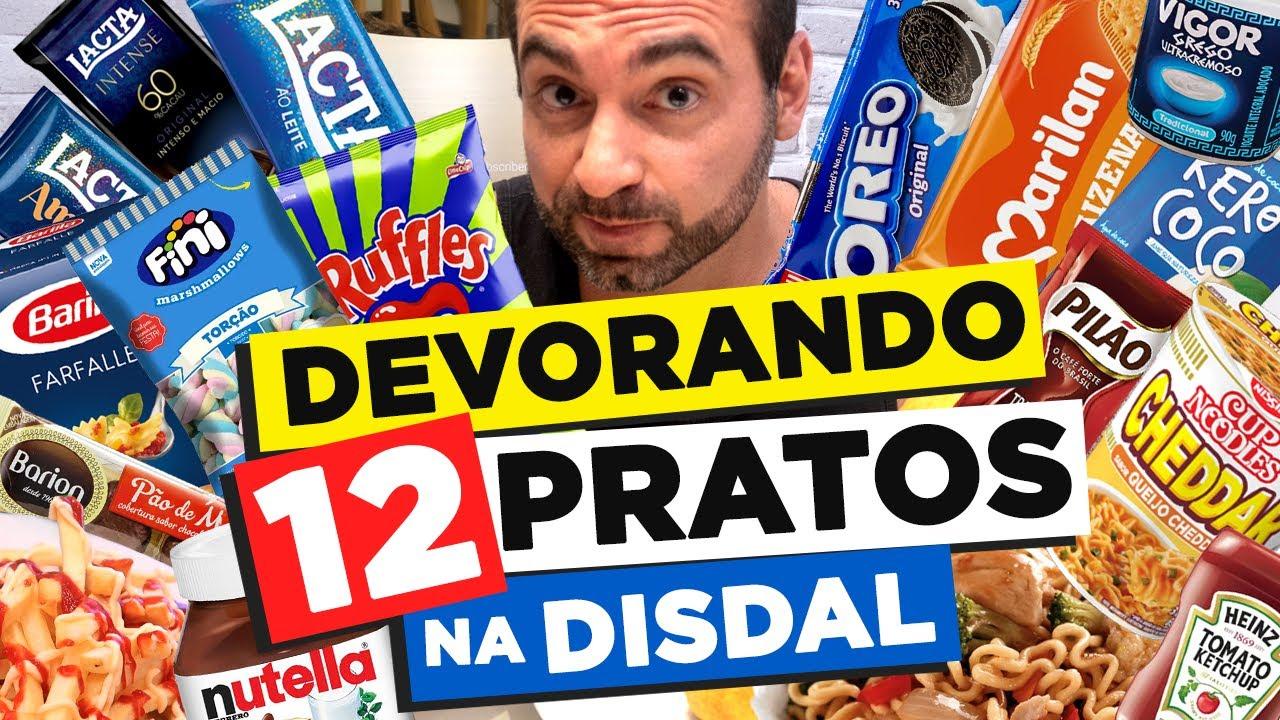 DEVORANDO 12 PRATOS NA DISTRIBUIDORA DISDAL!!