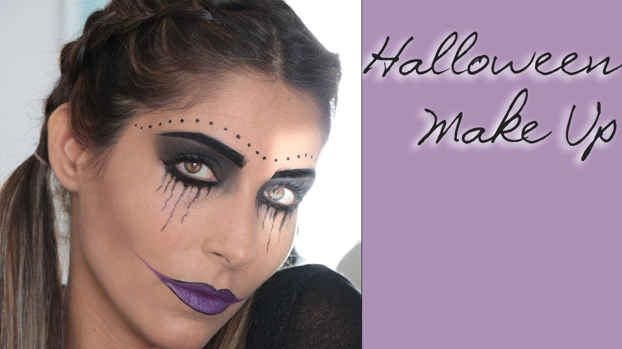 Trucco per Halloween, Make up semplice - YouTube