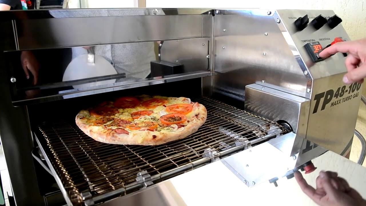 Forno de Esteira para Pizzas e Esfihas TP Maxx Turbo Gás - Tecnopizza