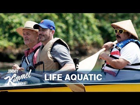 Bill Murray, Jimmy Kimmel & Guillermo's Dirty Canoe Ride in Brooklyn