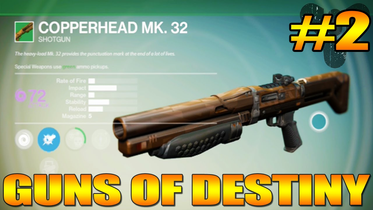 guns of destiny 2 copperhead mk 32 shotgun the snake gun