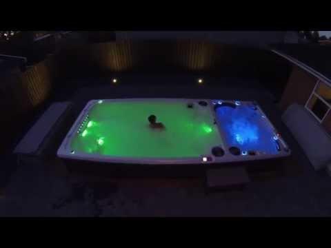 Levering af Hydropool Swim Spa