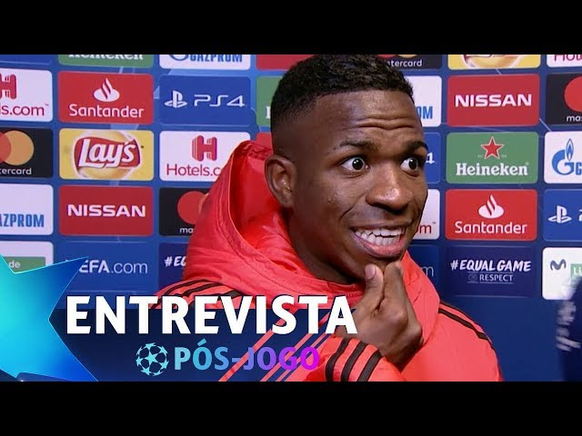 "VINÍCIUS JR: ""O REAL MADRID É SEMPRE A FAVOR DO VAR"" 