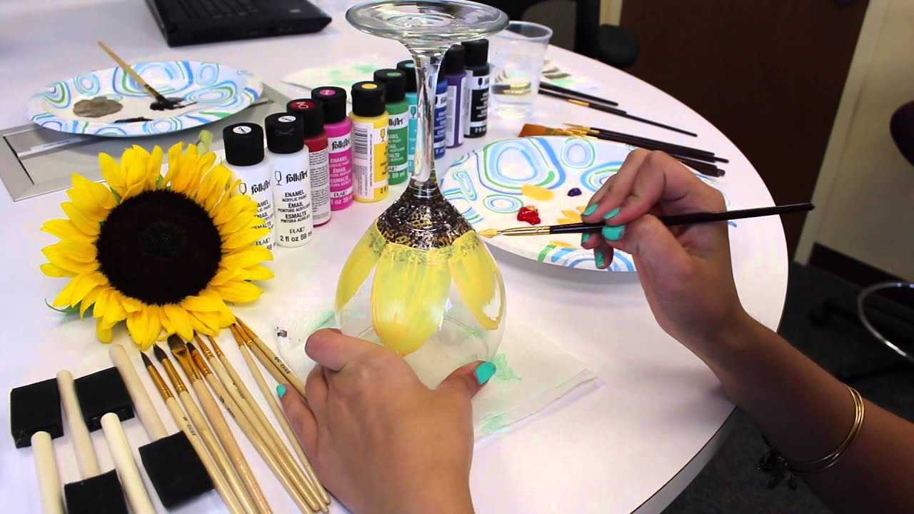 diy how to paint flowers on wine glasses youtube