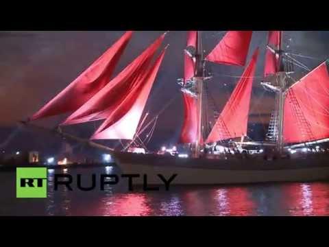 Russia: Scarlet Sails graduation ceremony dazzles in St Petersburg