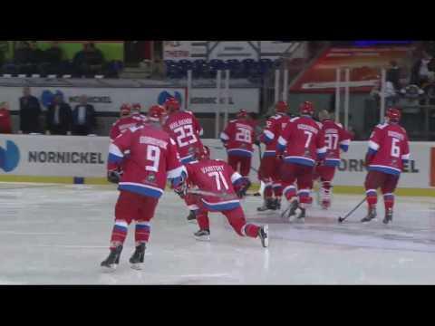 2017-04-08 SemiFinal 2. RUSSIA vs SLOVAKIA. World Legends Hockey League. Superfinal 2017, Germany