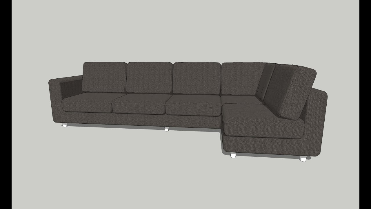 How To Draw Sofa On Sketchup Interior Part 04 Youtube
