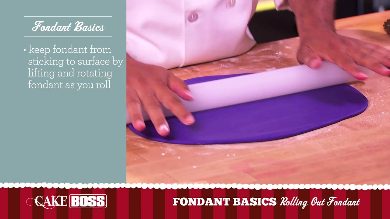 How To Roll Out Fondant Basics Part 2 Cake Boss Baking You