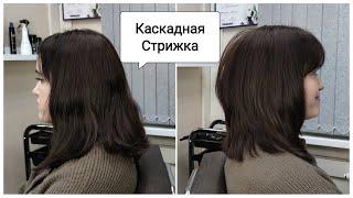 Каскад на среднюю длину волос Каскадная стрижка Правильный объем в стрижке Layered Hair