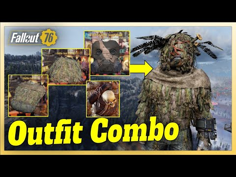 Fallout 76 Outfit Combo | Ghillie Suit & Hood combined with Vault 94 Scout Mask + Raider Bag = EPIC! from YouTube · Duration:  9 minutes 40 seconds