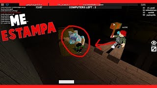THE BEAST STAMPS ME AGAINST A PACA OF PAJA FLEE THE FACILITY ROBLOX 17_SANTI