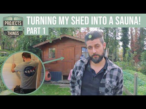 Building a  DIY Sauna in my garden!