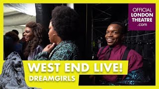 The cast of Dreamgirls exits stage of West End Live