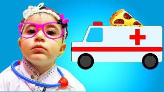 Celina Pretend to be a Doctor and help Hasouna - سيلينا الطبيبة وحسونة