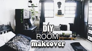 DIY Extreme Bedroom Makeover | White Black Gold |