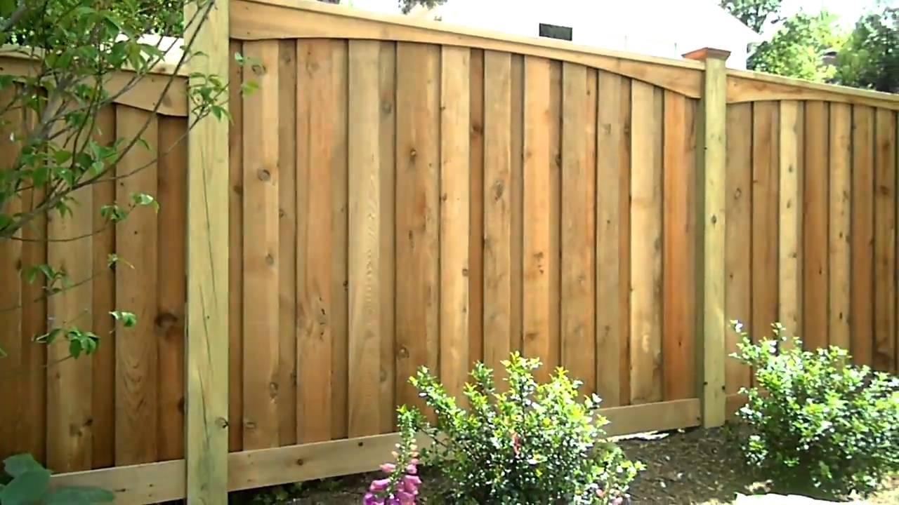 Ace Deck Amp Fence Llc Custom Cedar Fence Youtube