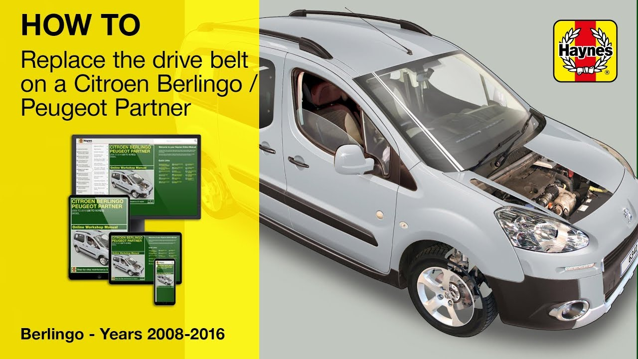 How to replace the drive belt on a Citroen Berlingo and