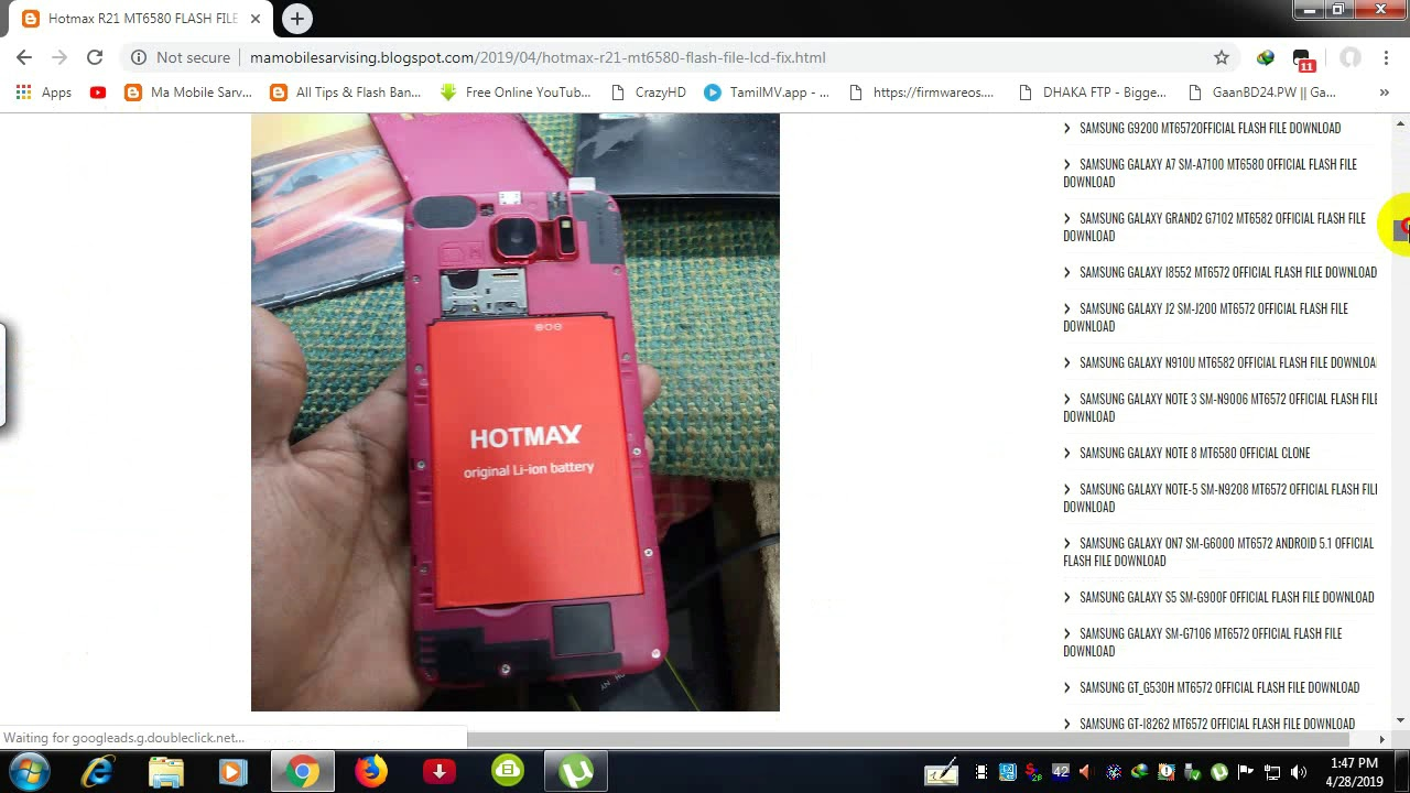 Hotmax R21 MT6580 FLASH FILE LCD FIX