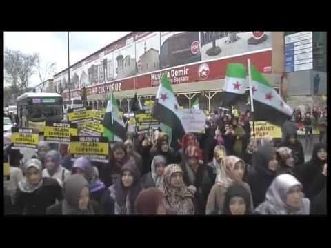 5196WD TURKEY-SYRIA ANNIVERSARY PROTEST