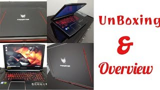Acer Predator Helios 300 Gaming Laptop Unboxing & Overview (G3 - 572)