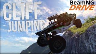 Biggest Drop Ever! Cliff 2.0 Mod Spotlight - BeamNG Drive Highlights Gameplay
