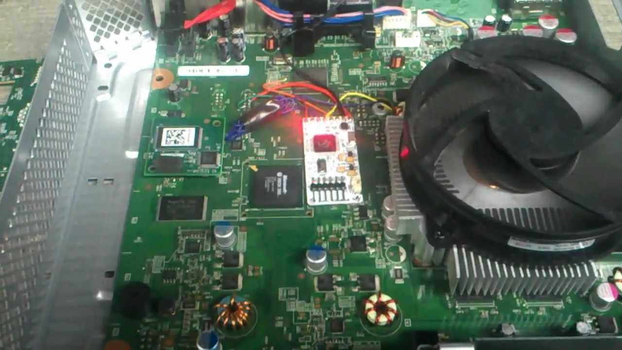 Xbox 360 slim JTAG - COOLRUNNER GLITCH CHIP installed - DEMO