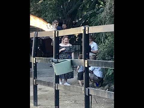 Adele take son Angelo to Sydney's Taronga Zoo during break Australian tour