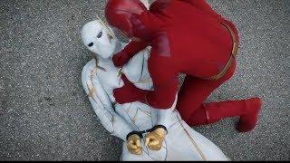 The Flash 6x01 opening Godspeed vs Flash Scene