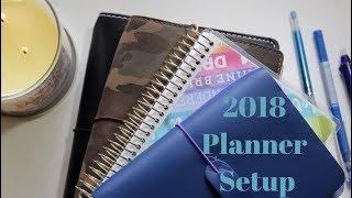 2018 Planner Setup : Work Bullet Journal, Foxy Fix, Chic Sparrow & Mini Happy Planner
