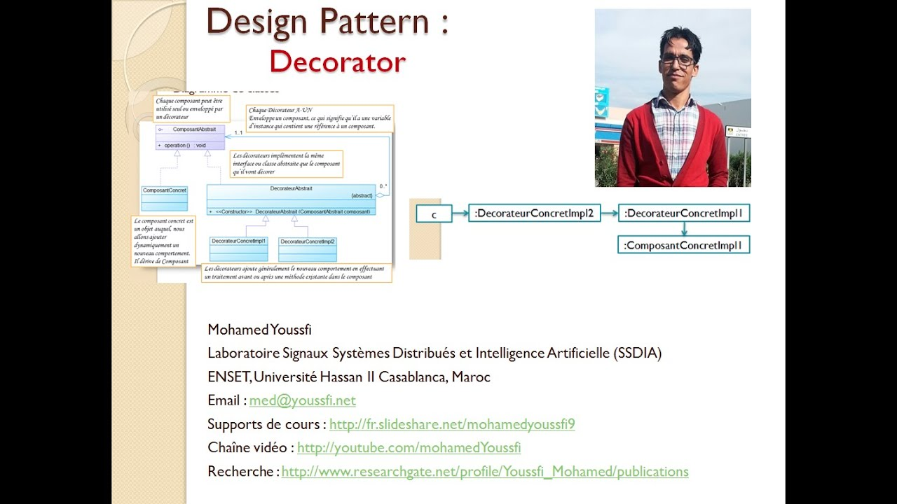 Design Pattern Decorator By Mohamed Youssfi