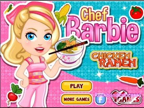 Barbie Games Chicken Ramen Barbie Cooking Games Youtube