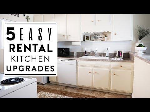 INTERIOR DESIGN | 5 Easy Rental Kitchen Upgrades | Kitchen Makeover!