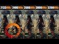 Ryzen vs RAM 2133 vs 2400 vs 2666 vs 3000 vs 3200MHz