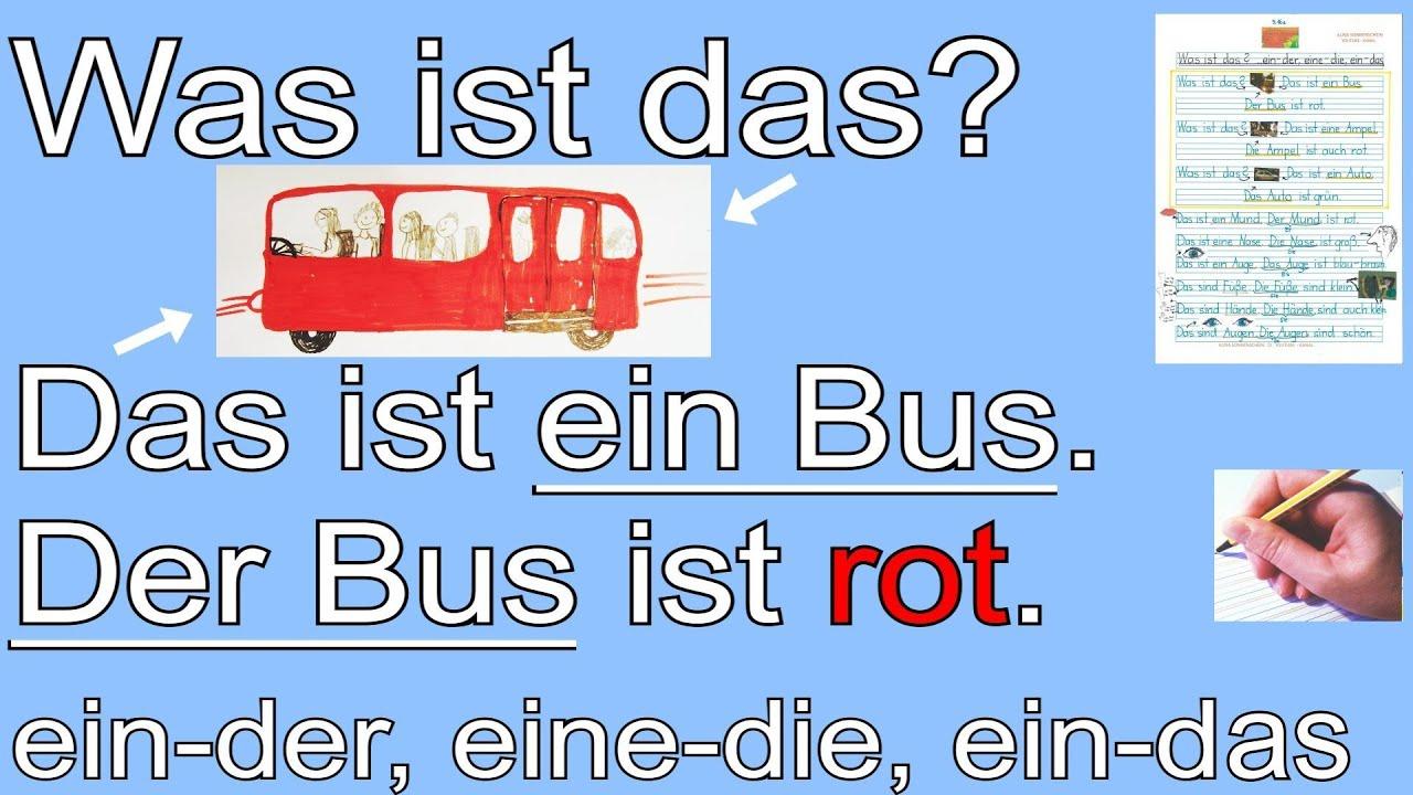 Deutsch lernen mit Videos   Alphabetisierung und A20   mit Bildern ...