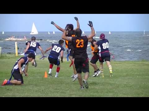 "Montevideo: ""Torneo Internacional de Flag Football"" (Dic 2016) PARTE 1"