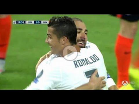 Cristiano Ronaldo GOAL - Real Madrid vs Shakhtar Donetsk 2-0 Champions League