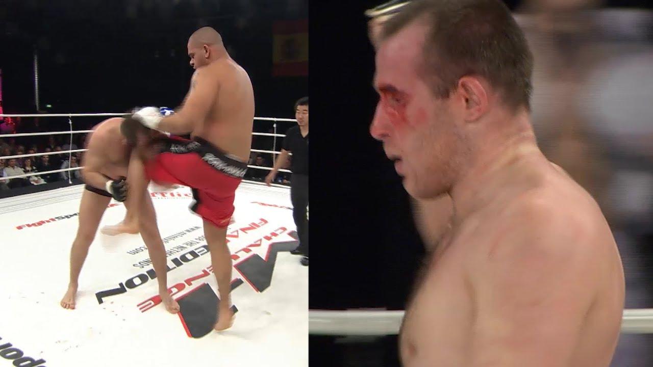 Алексей Олейник уничтожил огромного КАРАТИСТА! Кровавый и жесткий бой! Удав задушил гиганта!