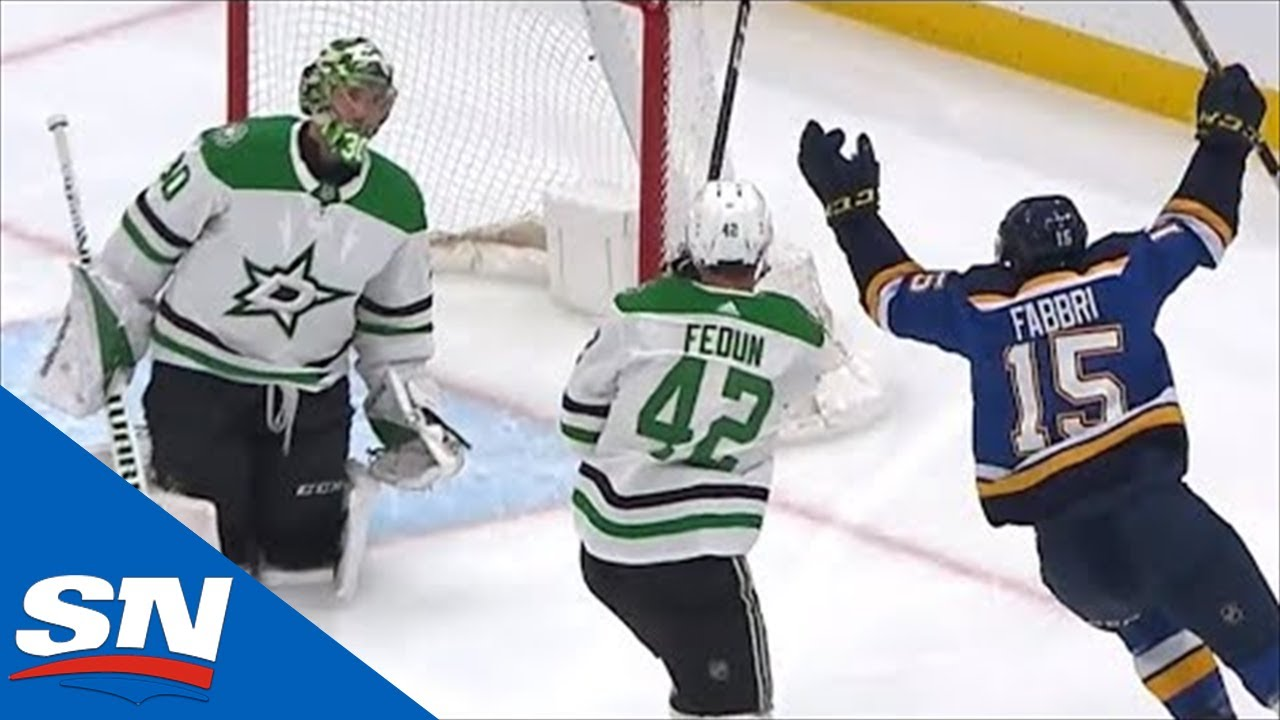 new concept 1a2bd d4618 St. Louis Blues Score On First Shot Of Game 1 As Robby Fabbri Beats Ben  Bishop Five Hole