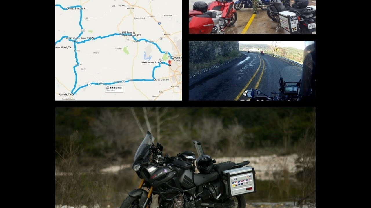 Texas Hill Country 3 Sisters Motorcycle Ride