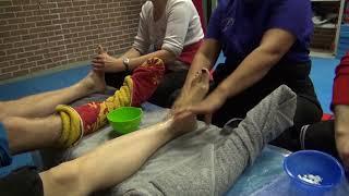 Фрагмент семинара «Тайский массаж стоп». Любовь Сокольская