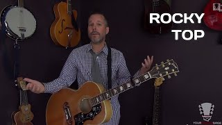 How to Play Rocky Top by The Osborne Brothers - Guitar Lesson