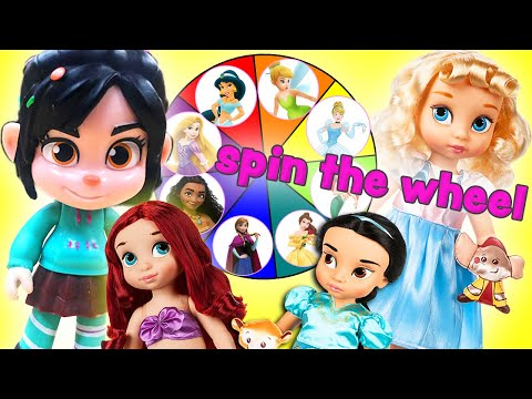 Vanellope's Spin The Wheel Game! With Surprise Gifts for The Princesses!   Princess World
