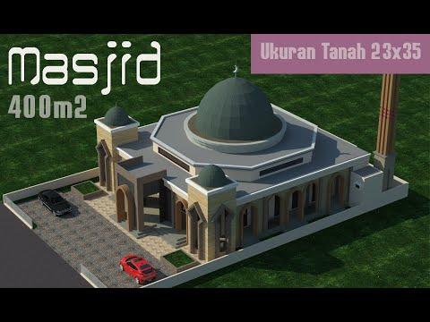 Desain Masjid Minimalis di Kabupaten Bone Sulawesi Selatan