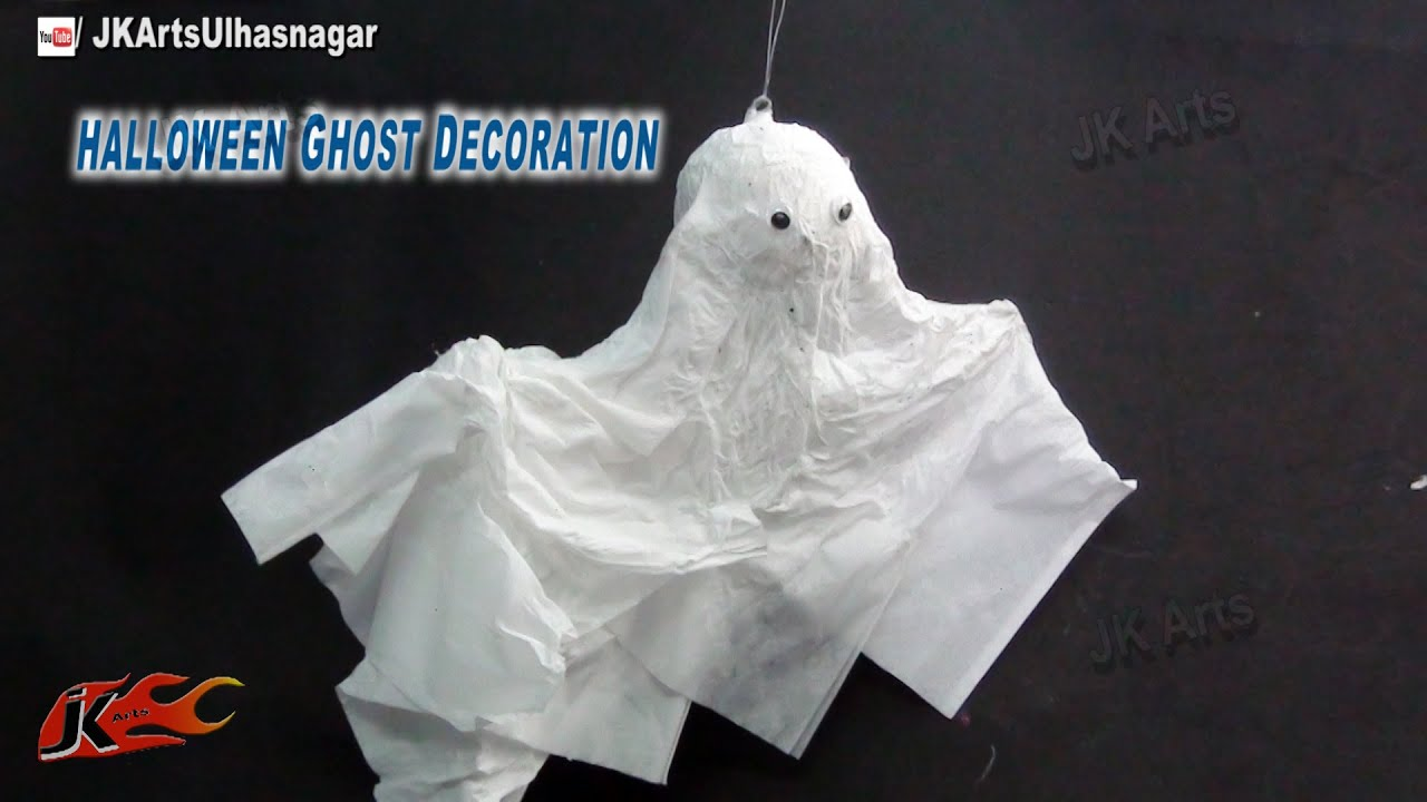 Diy Halloween Flying Ghost Decoration How To Make Jk Arts 751